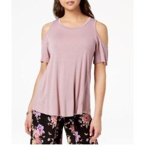 Hippie Rose Olive Green Cold Shoulder T-Shirt